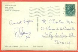 STORIA POSTALE PER L'ESTERO- LIRE 12 SIRACUSANA - DA VENEZIA PER LA FRANCIA - 6. 1946-.. Repubblica