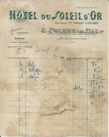SAINT DIZIER E POCHON HOTEL DU SOLEIL D OR CONFORT MODERNE GARAGE AVEC CARTE TOURISTIQUE AU DOS ANNEE 1930 - France