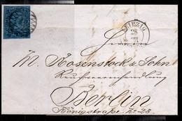 Saxe Très Belle Lettre Entière De 1860 Leipzig/Berlin. Très Belle Qualité. A Saisir! - Saxe