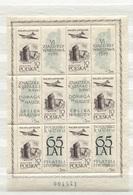 Polen #1101 Kleinbogen I Postfrisch Philatelisten, Flugzeug Iljuschin IL-14P - Blocks & Kleinbögen
