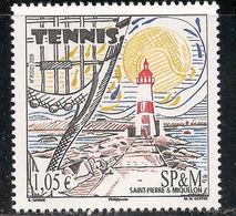 DE23- Saint Pierre & Miquelon Scott 2009 Sc 891 MNH - Tennis Sports Lighthouse - St.Pierre & Miquelon