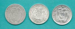 Ecuador - 2 Décimos - 1889 (KM51.2); 1914 (KM51.3) & 1916 (KM51.4) - Equateur