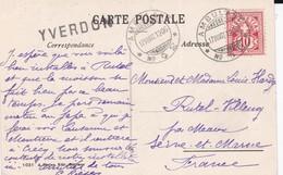 "CP - ""YVERDON"" + AMBULANT N°2  / 17.VIII.07 - Storia Postale"