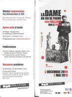 """M-P MARQUE-PAGE SIGNET LA DAME DU JEU DE PAUME  ROSE VALLAND SUR LE FRONT DE L""""ART MUSÉE RÉSISTANCE LYON 69 EXPO 2009/20 - Marque-Pages"""