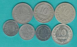 El Salvador - 10 Centavos X 7 - 1952, 1972, 1975, 1977, 1987, 1993 & 1995 - Salvador
