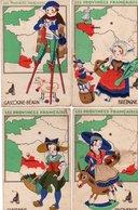 Thèmes > Cartes Géographiques Lion Noir Les Provinces Françaises Lot De 7 Cartes - Cartes Géographiques