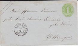 NOCHMALS REDUZIERT Württemberg Ganzsache U 16 K3 Trossingen N Tuttlingen 1874 R - Wuerttemberg
