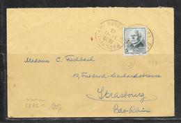 LOT 1812305 - N° 524 SUR LETTRE DE SAINT PAUL DU 11/11/43 POUR STRASBOURG - CENSURE ALLEMANDE - Marcophilie (Lettres)