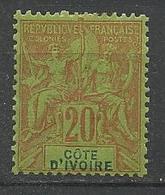 COTE D'IVOIRE N° 7 NEUF* CHARNIERE TB / MH - Neufs