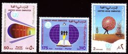 DE23- United Arab Emirates UAE 1985 Mi. 188-190 MNH Cplte Set 3v. - Intnl Youth Year - United Arab Emirates