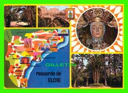ELCHE, SPAIN - PARQUE MUNICIPAL, HORT DE BAIX - 5 MULTIVUES - MAP - RECUERDO DE ELCHE - - Alicante