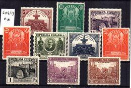 Serie  Nº 604/13  España - 1889-1931 Reino: Alfonso XIII