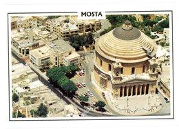 Malta. Mosta. Aerial View Showing The Mosta Rotunda Church. Malte. Mosta. Vue Aérienne Montrant L'église Rotonde. - Malte