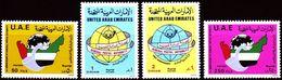 DE23- United Arab Emirates UAE 1986 Mi. 194-197 MNH Cplte Set 4v. - Postal Authority - United Arab Emirates