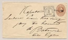 Nederlands Indië - 1897 - 10 Cent Envelop Van L PARAÄN Via VK TEMANGGOENG En MAOS Naar Batavia - Nederlands-Indië