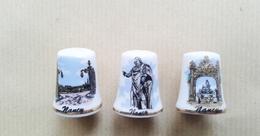 Dés à Coudre En Porcelaine Région Nancy-fèves - Thimbles
