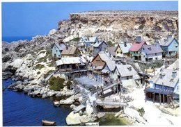Malta. Anchor Bay. Popeye Village Built For Hollywood Film. Malte. Village De Popeye Construit Pour Film Hollywood. - Malte