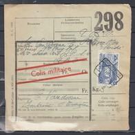 Fragment Met Stempel Fontaine L'Eveque Colis Militaire - Bahnwesen
