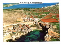 Malta. Mellieha Bay & Popeye Village On Anchor Bay. Malte. Baie De Mellieha Et Village De Popeye à La Baie D'Anchor. - Malte