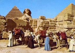 Giza - The Great Sphinx And Keops Pyramid - Formato Grande Viaggiata – E 9 - Gizeh