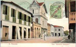AFRIQUE --  SAO TOME Et PRINCIPE -- S Thomé -- Rua Matheus Sampaio - Sao Tome Et Principe