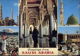 Greetings From Saudi Arabia - Formato Grande Viaggiata Mancante Di Affrancatura – E 9 - Cartoline
