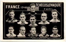 Football - Souivenir De France Tchécoslovaquie 7 Avril 1946 - Football