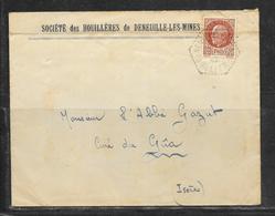 LOT 1812310 - N° 517 SUR LETTRE DE DENEUILLE LES MINES DU 10/05/43 - Poststempel (Briefe)