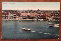 VENEZIA PANORAMA PALAZZO DUCALE , PIAZZA,... SENZA IL CAMPANILE  DI S.MARCO VIAGGIATA A CASSINE IN DATA 1/3/1911 - Venezia (Venice)