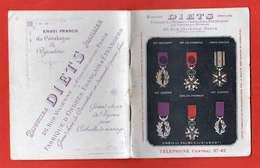 1914 Catalogue Bijoutier Diets Ordres Et Décorations Dont Rares LH Chine Madagascar Anjouan Sisowath Stanislas Ect - Frankrijk