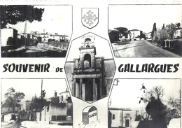 GARD - 30 - GALLARGUES - CPSM PF NB Multivues - Gallargues-le-Montueux
