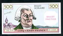 """Billet Scolaire Pour école """"500 Francs Mirabeau"""" Billet Factice - School Bank Note - Fictifs & Spécimens"""