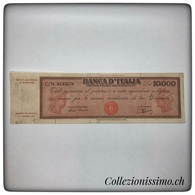10000 Lire Titolo Provvisorio Medusa - [ 2] 1946-… : République