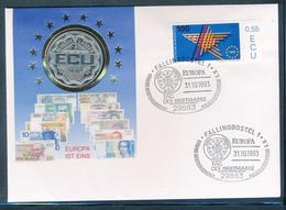 NIEDERLANDE / PAYS BAS - 1993 , ECU , Leechwater - Numisbrief  , Fallingbostel 1993 - Sonstige
