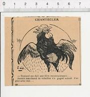 2 Scans Presse 1913 Humour Chantecler Rostand (Edmond) Coq Volailler / Apache Arme Bâton 51D3 - Old Paper