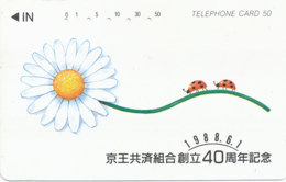 JAPAN Telefonkarte -Marienkäfer -siehe Scan -4507 - Coccinelle