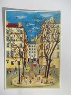 Vernissage Edith Micheli  1993 Galerie Naifs Et Primitifs  Paris La Place Furtenberg - Peintures & Tableaux