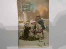 TI  -  Carte Joyeux Noel - Enfants Faisant Un Bonhomme De Neige - Other