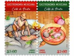 MEXICO 2018 OAXACAN STONE SOUP  PREHISPANIC FOOD STAMP SET MNH CHEF FISH VEGETABLES - México