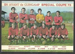 Cpm St004357 Spécial Coupe De France 1973 En Avant De Guingamp Signée Des Joueurs - Voetbal