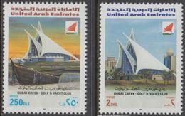 DE23- United Arab Emirates UAE Mi.401/02 Building Buildings | Dubai Creek Golf & Yacht Club MNH - United Arab Emirates