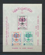 Saudi Arabia  1962  Malaria Eradiction  Souvenir Sheet  MNH XX  IMPERFORATED - Arabie Saoudite