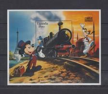 MWD-DSN373 MVT MINT PF/MNH ¤ UGANDA 1998 ¤ THE WORLD OF WALT DISNEY -- FRIENDS OF WALT DISNEY - Disney