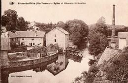 87. CPA.  PIERRE BUFFIERE.  église Et Minoterie Saint Maurice. Cheminée. - Pierre Buffiere
