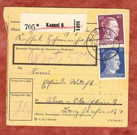 Paketkartenteil, MiF Hitler, Kassel Nach Idar-Oberstein 1944 (68246) - Deutschland