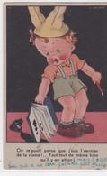 """CPSM 9X14  Illust L. GOUGEON  Enfant Au Bonnet D'âne """"On M'punit Parce Que J'suis L'dernier De La Classe...."""" - Gougeon"""
