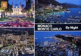 Monaco - Monte Carlo - By Night - Formato Grande Viaggiata – E 9 - Cartoline
