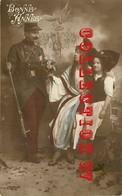 ☺♦♦  CARTE PATRIOTIQUE GUERRE 14 < FEMME - SOLDAT POILU - Guerre 1914-18