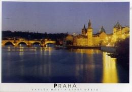 Praha - Karluv Most A Stare Mesto - Formato Grande Viaggiata – E 9 - Cartoline
