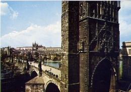 Praha - The Castle Of Prague Hradcamyh And Charles Bride - Formato Grande Viaggiata – E 9 - Cartoline